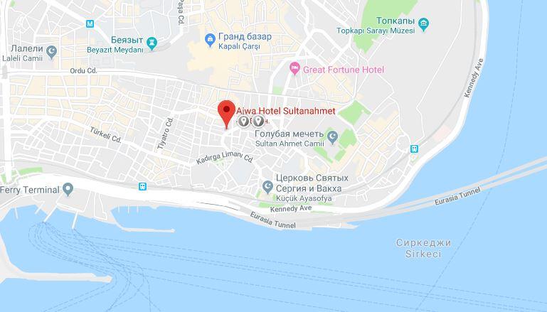 Ajwa на карте Стамбула