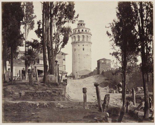 Фото Галатской башни 1862 года