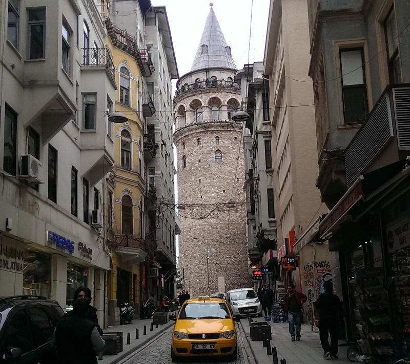 Галатская башня снаружи