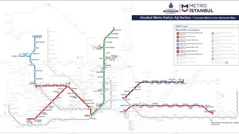 Карта метро Стамбула