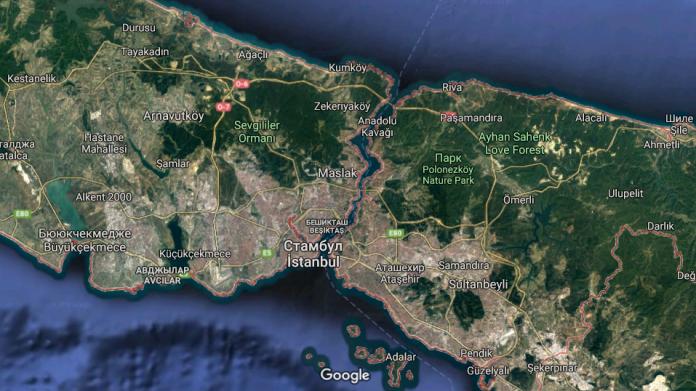 Районы ила Стамбул на карте