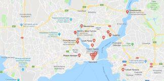 Достопримечательности на карте Стамбула