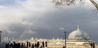 Стамбул в марте - радуга