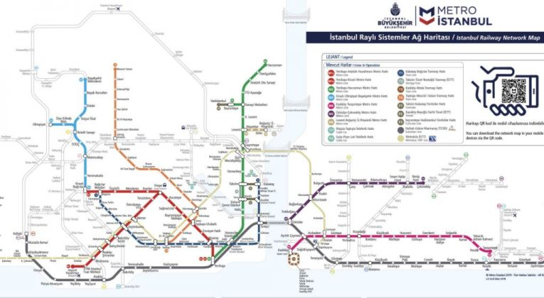 Схема метро в Стамбуле 2019