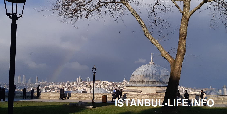 Мечеть Сулеймание - красивый вид на Стамбул