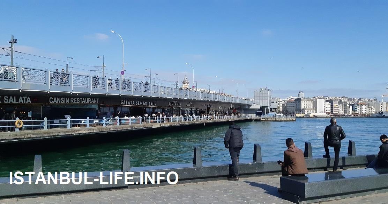 Галатский мост - рыбные рестораны