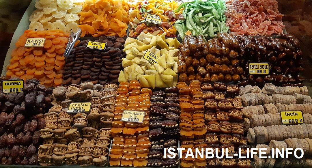 Сладости на стамбульском базаре