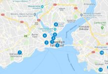 Рынки Стамбула на карте