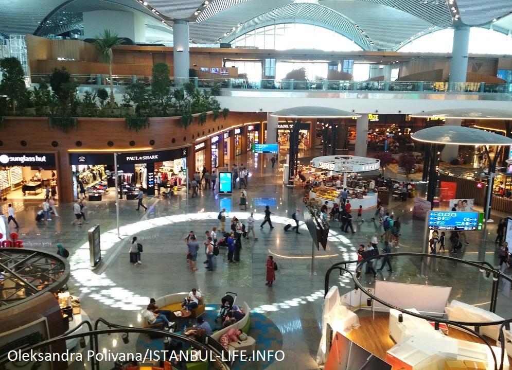 Аэропорт Стамбул - вид со второго этажа