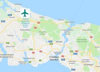 Новый аэропорт Стамбула на карте