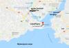 Карта центра Стамбула - мыс Сарайбурну