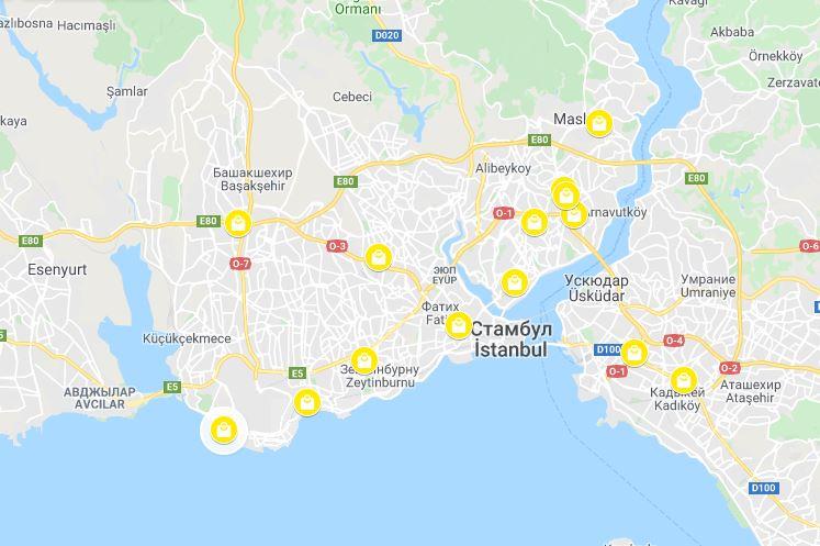 Torgovye Centry V Stambule Na Karte Shopping S Istanbul Life