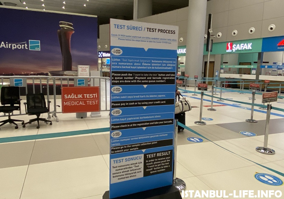 PCR тест в аэропорту Стамбул